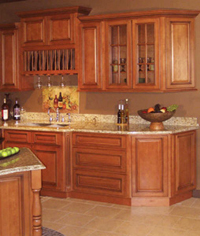 Kitchen cabinetry countertops